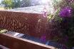 Spinnennetz auf dem Balkon